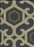 Boutique Vintage San Remo Wallpaper Amber Black 952801 By Arthouse For Options
